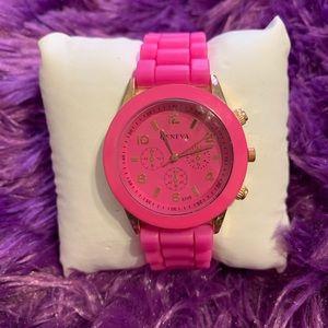 Pink Jelly Fashion Watch